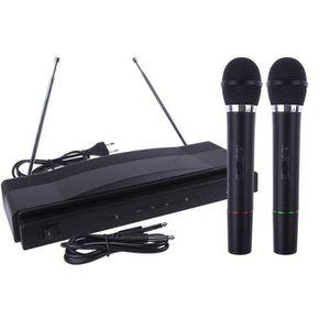ENCEINTE NOMADE Système de microphone sans fil Dual Handheld + 2 x