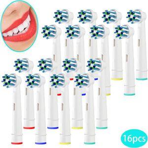 BROSSE A DENTS ÉLEC 16 têtes de brosse à dents électriques de rechange