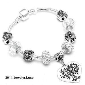 BRACELET - GOURMETTE 21 cm Bracelet Charm Arbre de Vie Cristal Swarovsk