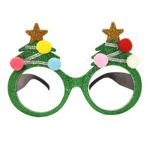 LUNETTES DE SOLEIL Lunettes de Noël rigolotes avec une boule en peluc