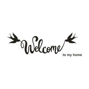 OBJET DÉCORATION MURALE iportan® sticker muraux amovible Bienvenue sur My