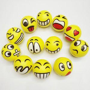 Enfants Mousse Jaune visage souriant heureux balle stress relief squeeze gonflable fidget jouet