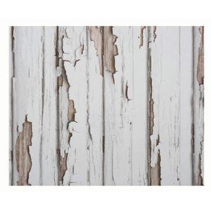 Tapisserie Design Shabby Blanc//marron 120 x 53 cm