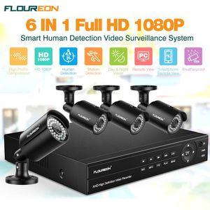 CAMÉRA DE SURVEILLANCE Kit de Caméra de Surveillance FLOUREON - 1*8CH HD