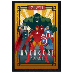 AFFICHE - POSTER Poster 61x91,5cm cadre en bois noir Assemble Marve