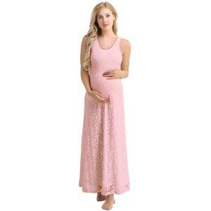 ROBE Robe femme enceinte été - Longue Sans Manche Mater