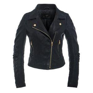 Mesdames Femmes Doux Cuir Véritable Veste de motard Taille UK 8 10 12 14 16 18 20 22 24