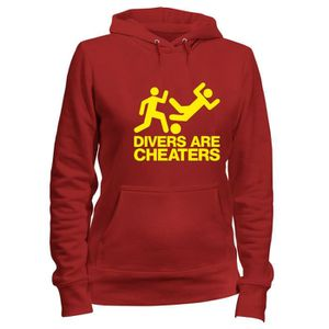 SWEATSHIRT Sweatshirt a Capuche Femme Rouge WC0324 DIVERS ARE