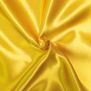 TISSU Satin doublure Jaune Or - Tissu au mètre - Quartie