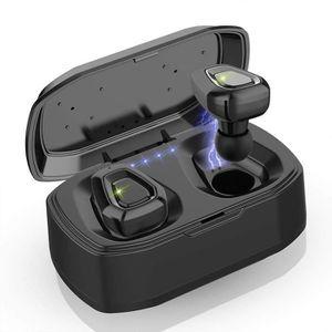 CASQUE - ÉCOUTEURS Ecouteur Bluetooth, Ecouteur sans Fil 25h Hi-FI St