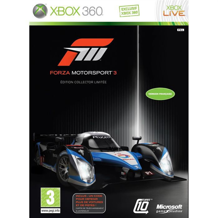 jeux de voiture xbox 360 forza motorsport 3 edition limit e jeu xbox 360 achat vente jeux xbox. Black Bedroom Furniture Sets. Home Design Ideas