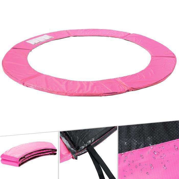 Arebos Coussin de protection des ressorts pour trampoline 487cm rose
