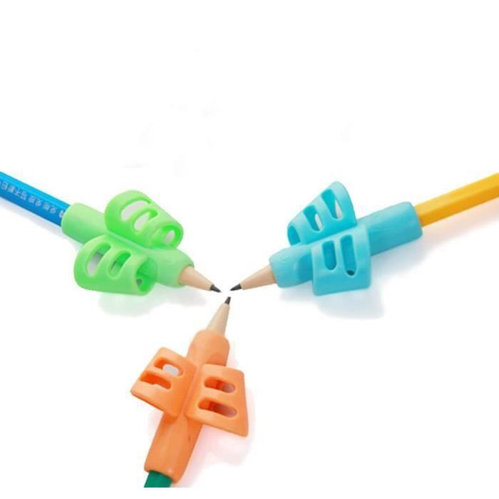 Professionel Guide Doigt Ergonomiques Grips pour Crayon Silicone Posture Correction Pencil Grip Aide Ecriture, Set de 3