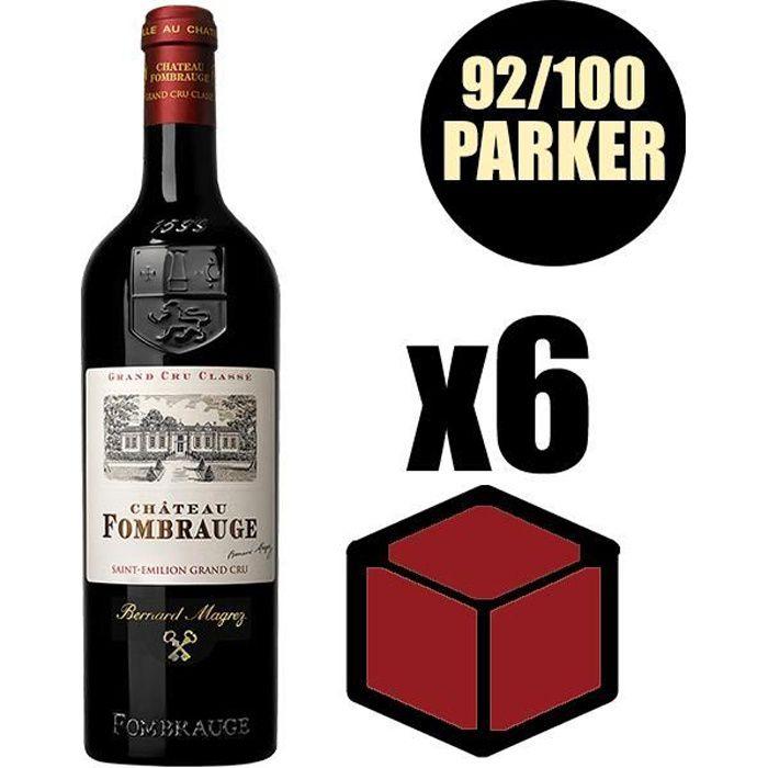 X6 Château Fombrauge 2015 75 cl AOC Saint-Emilion Grand Cru Classé Rouge Vin Rouge