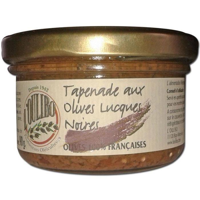 Tapenade aux olives Lucques noires 90g L'Oulibo