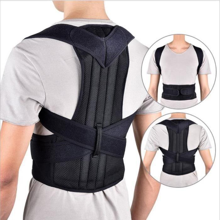CEINTURE LOMBAIRE,Correction du dos à bosse orthèse dorsale orthèse dorsale Support lombaire de scoliose - Type S