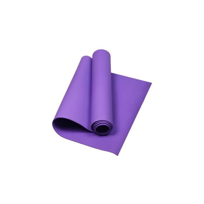 Tapis de yoga antidérapant monochrome pour hommes et femmes Tapis de yoga 4 mm ZZX210112902PP