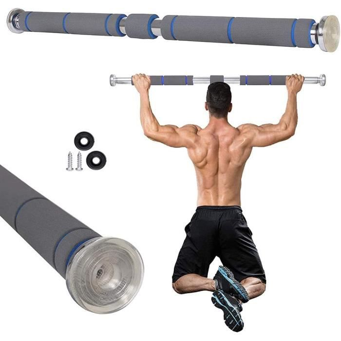 Barre de remorquage Vendeur pro Barre de Tractions, 80 &agrave 130 cm Barre de Fitness Fixation Murale pour Renforcer Les Muscle135