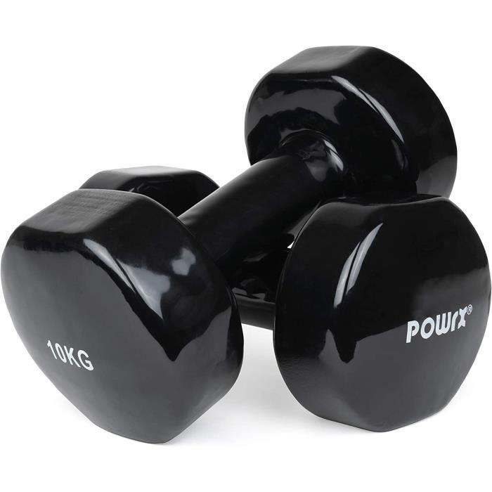 Lot d'haltères en Vinyle (Vendu par Paire) I haltères Poids idéal pour la Gymnastique- Fitness- aérobic- Pilates 0-5 kg - 10[320]