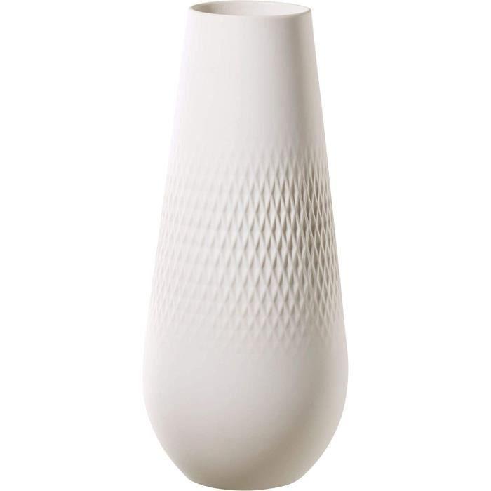 Boch Collier Blanc Grand vase Perle décoration de table en porcelaine Premium de haute qualité Porcelaine Transparent
