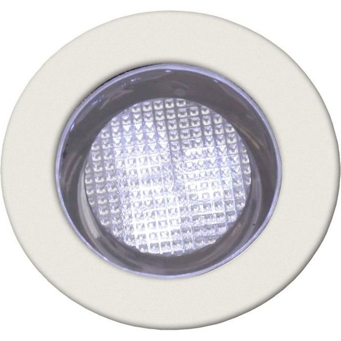 COSA-Kit de 10 Spots ronds LED encastrables d'extérieur Ø3cm Blanc Brilliant