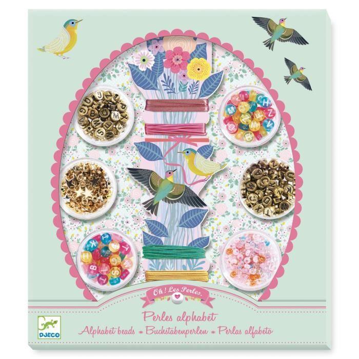 Kit de perles -oh les perles- : Alphabet Coloris Unique