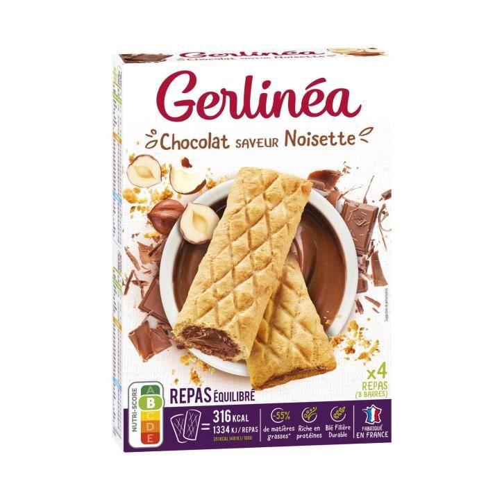 GERLINEA Barres fourrées de chocolat, substitut de repas - 360 g