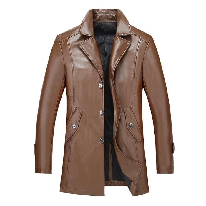 TRENCH EN PU CASUAL URBAN CLASSICS HOMME