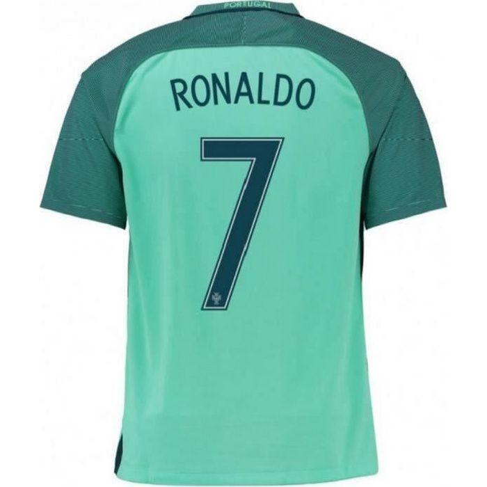 Maillot Homme Portugal Away Saison 2016-2017 Flocage Officiel Ronaldo numéro 7