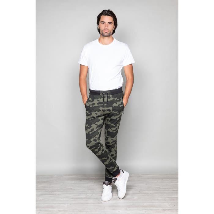 Pantalon de jogging camouflage RUN - Couleur - Kaki, Taille - S