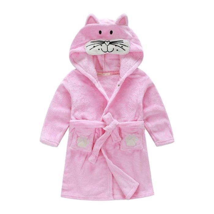 Enfants de dessin animé à capuchon en peluche peignoir pyjamas animaux en molleton Vêtements de nuit SOUTIEN-GORGE ALLAITEMENT