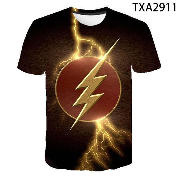 3D T-shirt,T-shirt manches courtes homme femme et enfant, estival et décontracté, avec dessin animé Flash DC, Super Hero en 3D