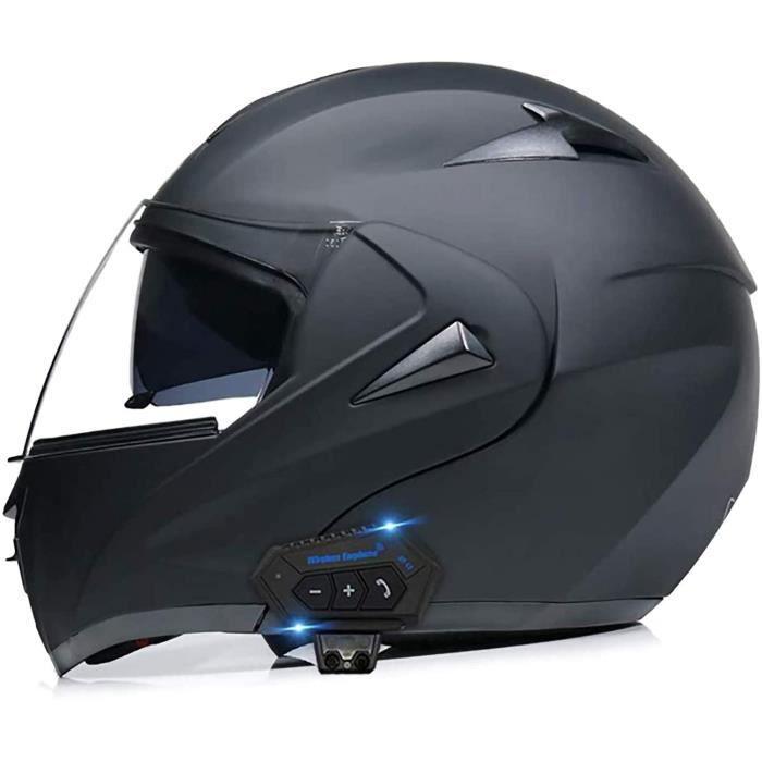 Casques de moto Bluetooth modulables Casques modulables Casques intégraux Casque de moto Scooter Casque de scooter Double pare-sol