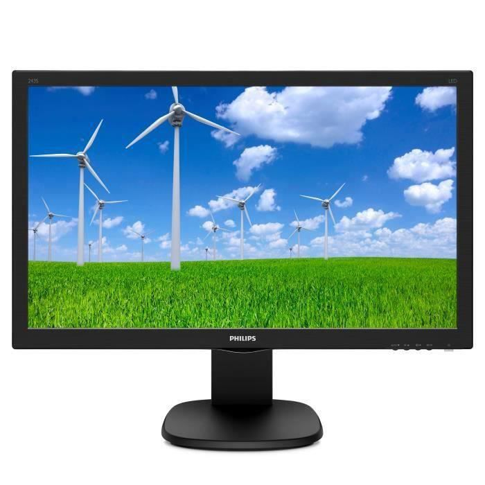 "Philips Moniteur Lcd S line 243S5ljmb 59,9 cm (23,6"") Full Hd Wled 16:9 Noir finition ultrafine texture"