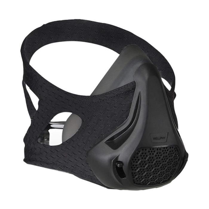 1 Pc masque de Sport noir de d'entraînement barrière à l'oxygène pour la course à pied LUNETTES DE MONTAGNE - LUNETTES DE GLACIER