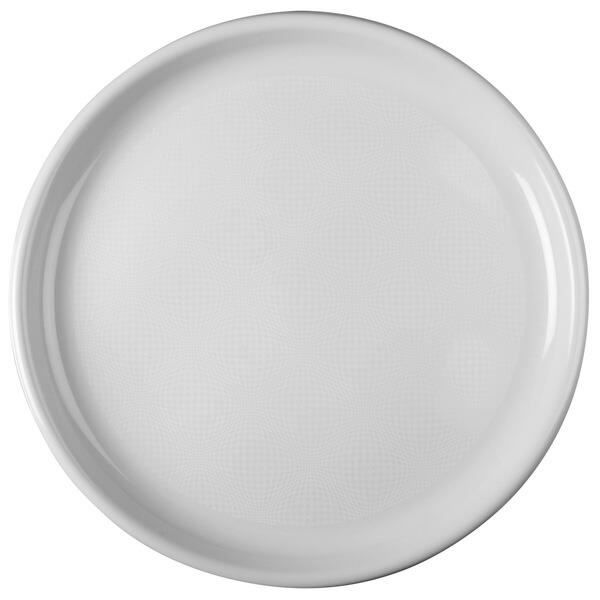 6 Grandes assiettes plates blanches réutilisables pour pizza 35cm R/52748
