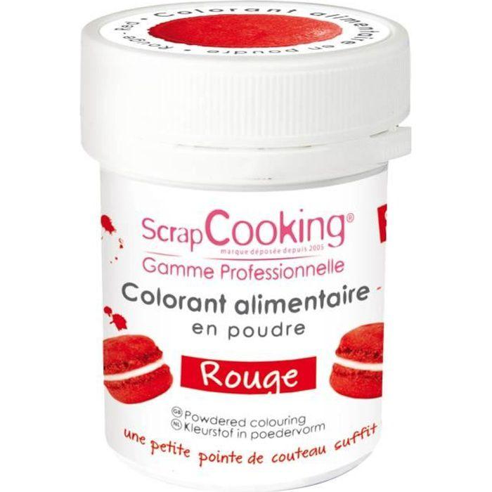 Colorant alimentaire (artificiel) - Rouge - Scrapcooking