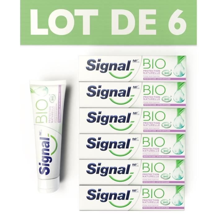 Signal Bio Dentifrice Protection Naturelle Lot de 6x75ml - 67900598