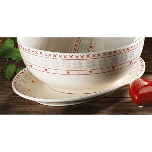 TABLE&COOK Plat ovale 'cold winter' 35 cm