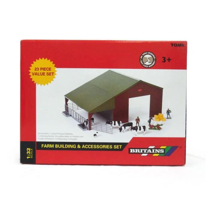 Hangar de Ferme à construire avec 5 animaux, 2 fermiers et accessoires