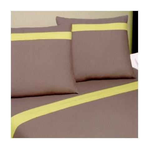 Housse de couette percale pliss e 220x240 2 taies 65x65 for Housse de couette percale de coton 220x240
