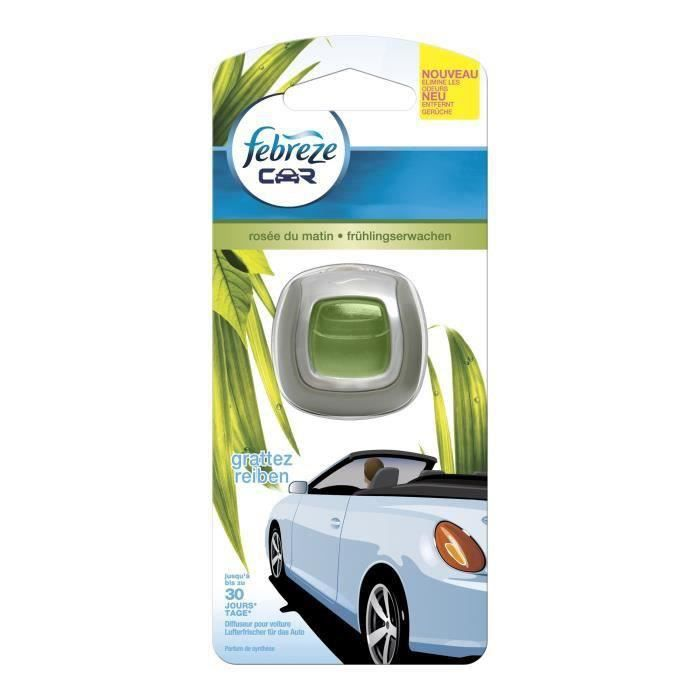 febreze diffuseur voiture ros e du matin 2ml achat vente d sodorisant auto febreze voiture. Black Bedroom Furniture Sets. Home Design Ideas