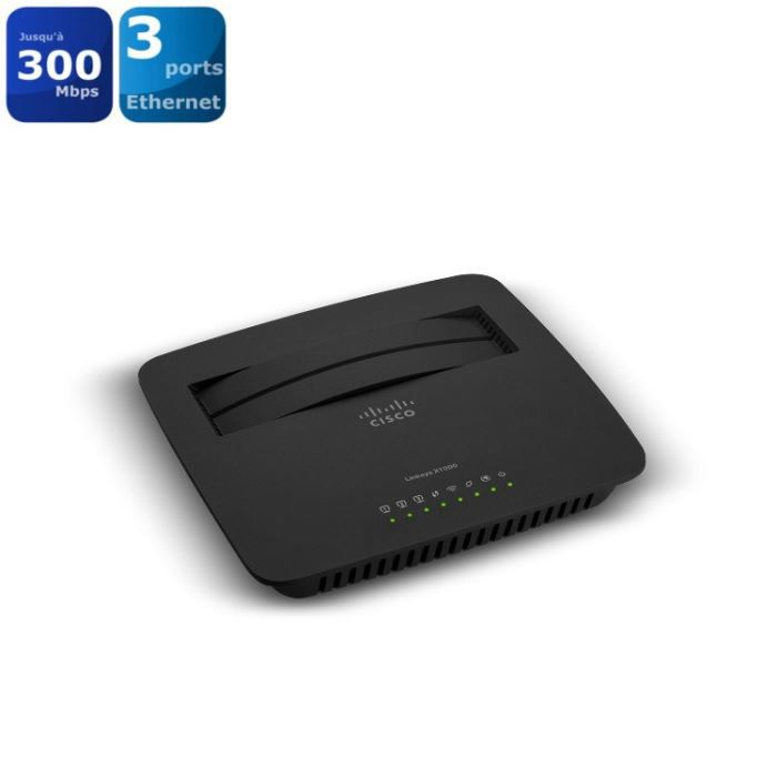 linksys x1000 modem routeur wifi n300 prix pas cher cdiscount. Black Bedroom Furniture Sets. Home Design Ideas