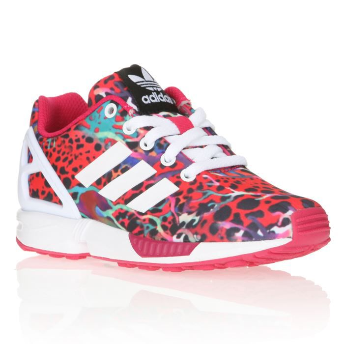 adidas originals baskets zx flux enfant rose et multicolore achat vente basket cdiscount. Black Bedroom Furniture Sets. Home Design Ideas