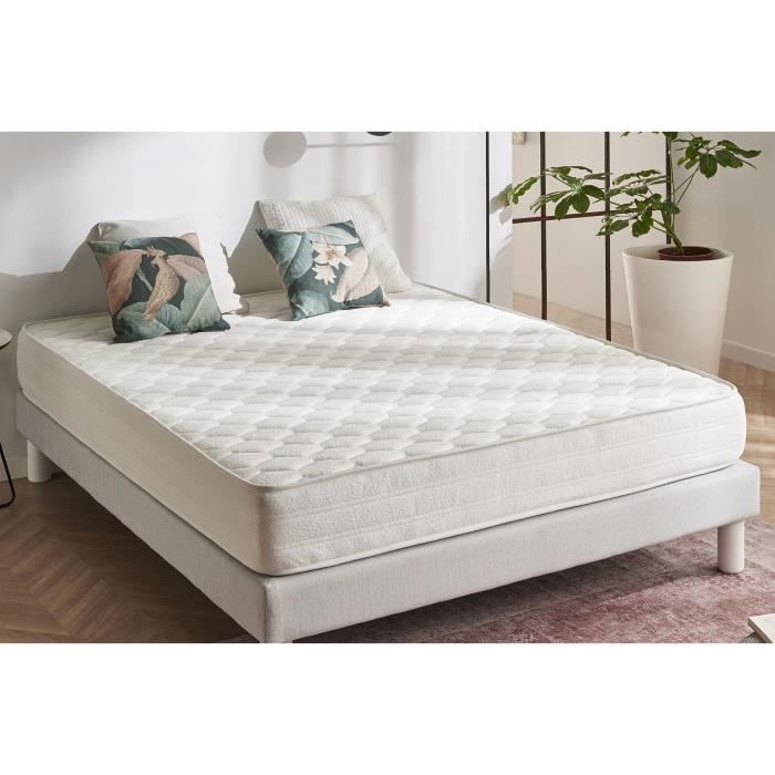 matelas ergo 140x190 mousse m moire blue latex achat. Black Bedroom Furniture Sets. Home Design Ideas
