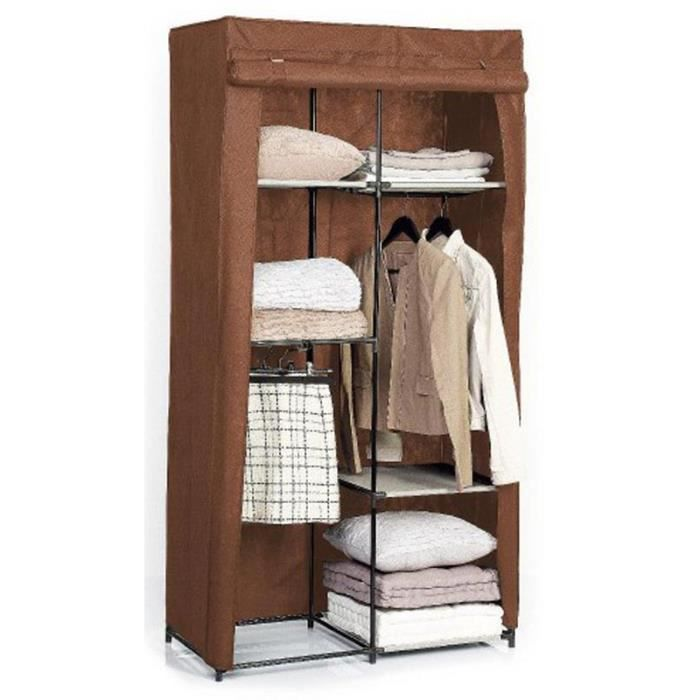 paris prix armoire dressing modulable marron achat. Black Bedroom Furniture Sets. Home Design Ideas