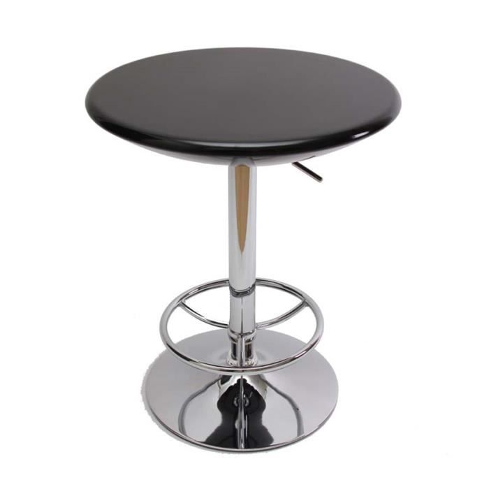 Table bar coloris noir hauteur r glable diam tr achat for Achat table bar