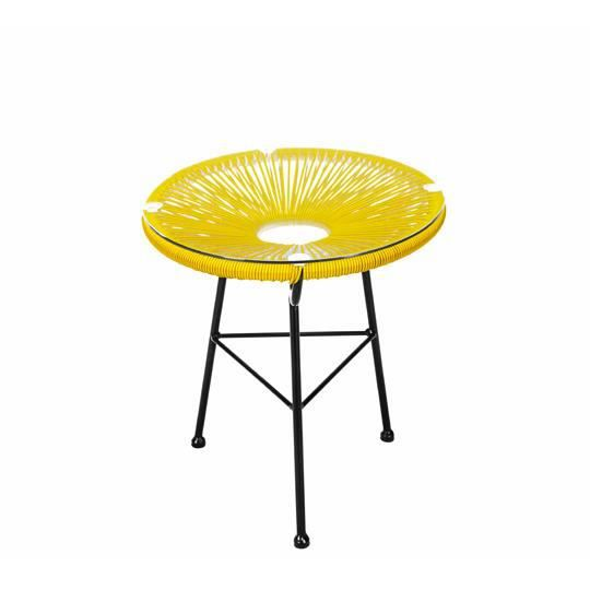table basse acapulco jaune achat vente table basse jardin table basse acapulco jaune cdiscount. Black Bedroom Furniture Sets. Home Design Ideas
