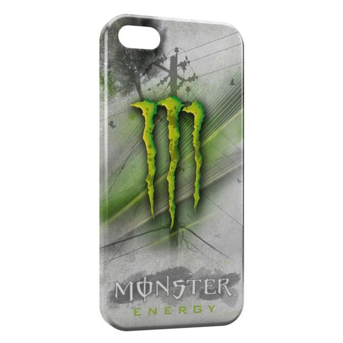 coque iphone 6 monster energy grey green