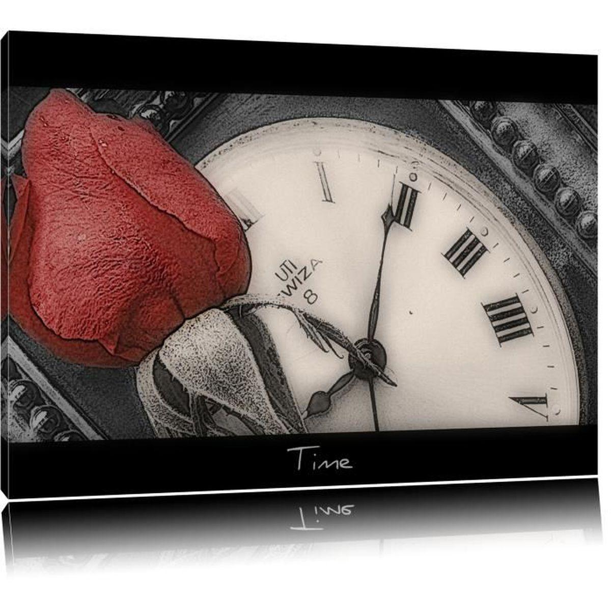 Blanc et Rouge Roses dans l/'eau imprimé photo sur bois encadrée Toile Wall Art Decor